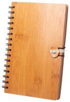 Bambusz spirál jegyzettömb 80 lap