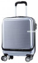 Merev műanyag gurulós bőrönd 4 kerékkel