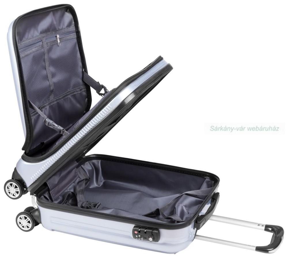 3d563e3fb46e Merev műanyag gurulós bőrönd 4 kerékkel - Sárkány-vár webáruház