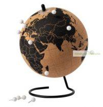 Parafa földgömb fém állványon, 15x20cm