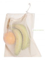 Pamut többször használható tasak, 25 x 30cm