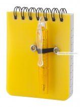 Jegyzetfüzet+toll (emblémázható)