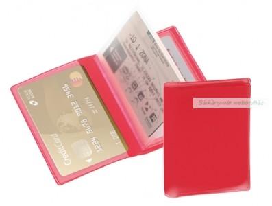 Bankkártya tartó, 6 részes, PVC