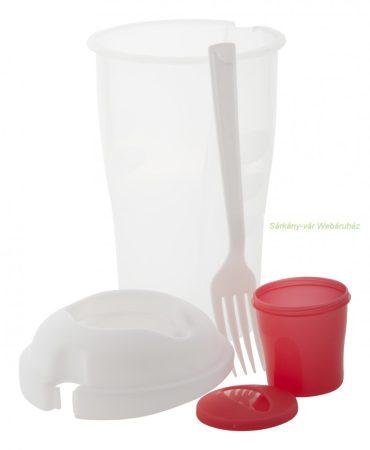 Salátás  pohár villával