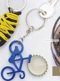 Bicikli kulcstartó sörnyitóval