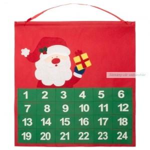 Adventi naptár, kalendárium, 38 x 40 cm