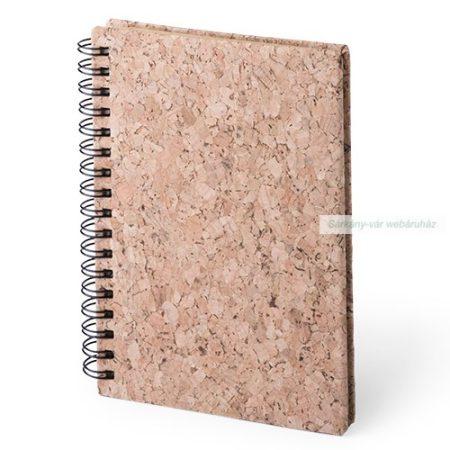 Jegyzetfüzet parafa borítású