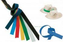 Színes szalagok kalapra