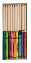 Színes ceruza és zsírkréta szett
