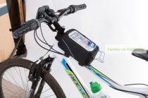 Kerékpáros táska, mobiltartós