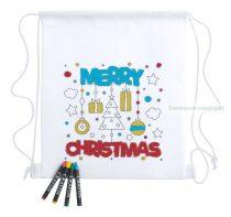Sszínezhető hátizsák, Karácsonyi minta