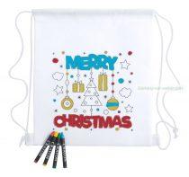 Színezhető hátizsák, Karácsonyi minta