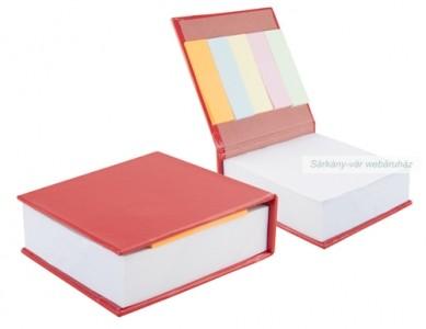 Jegyzetfüzet, jelölőcsíkokkal, karton