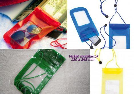 Színes vízhatlan, vízálló mobiltartó, 13 x 24.5 cm