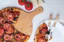 Bambusz pizza vágódeszka