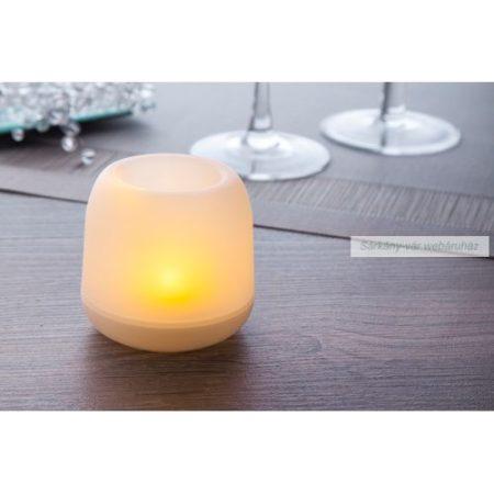 Műanyag gyertya, sárga LED világítással