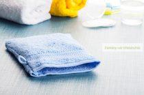 Frottír mosdókesztyű