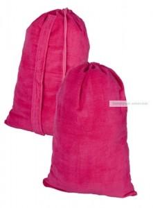 Törölköző, tartóban, pink 145×60 cm