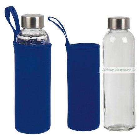 Üveg palack neoprén tokkal, 500 ml