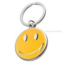 Smiley fém kulcstartó