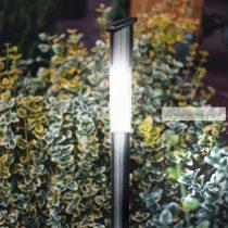 LED szolár oszlop lámpa, hidegfehér, fém, 70 x 5cm