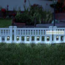 LED szolár kerítés, 58 x 36 x 3,5 cm,  4 db / szett