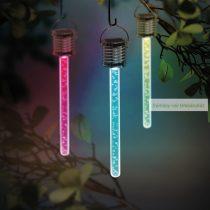 RGB LED-es szolár lámpa, buborékos, 175 x 30 mm