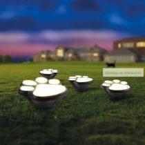 LED szolár lámpa, kutya lábnyom,  műanyag, 360 cm