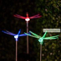 LED szolárlámpa, szitakötő, lepke