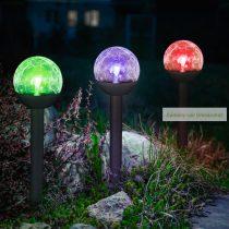 """LED szolár lámpa """"Kristály"""",  23 cm"""