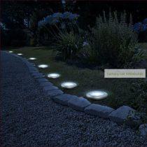8 LED-es leszúrható szolár lámpa, hidegfehér, 11 cm