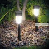 LED kültéri szolár lámpa, hidegfehér, 300 x Ø45 mm