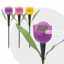LED szolárlámpa, tulipán