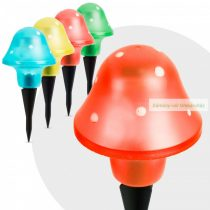 LED szolárlámpa,  gomba 11 cm