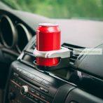 Autós italtartó, szellőzőrácsra rögzíthető