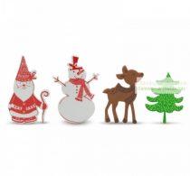 Karácsonyi habmatrica, 4 db