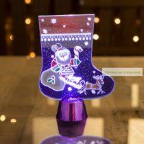 Karácsonyi asztali LED dekor, 15 cm