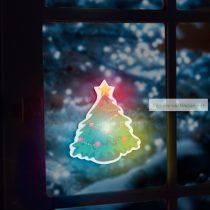 LED dekor öntapadós, pingvin, szív