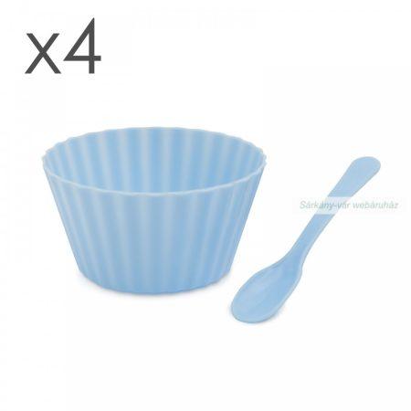 Fagylalt pohár szett, 4 db