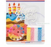 Happy Birthday tortagyertya szett