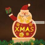 Karácsonyi LED asztali dekor fából