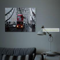 LED-es fali hangulatkép, London, 38x48 cm