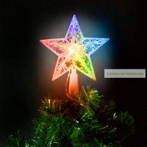 Karácsonyi LED-es csillag csúcsdísz