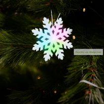 Világító hópehely, LED-del, 10 cm