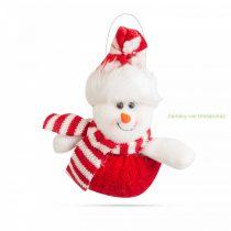 Karácsonyi dekor hóember, 14 x 16cm