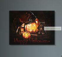 Halloween-i LED-es hangulatkép, 40x30cm