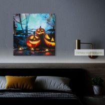 Halloween-i LED-es hangulatkép, 30x30 cm