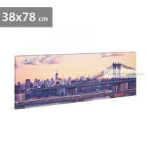 """LED-es fali hangulatkép - """"New York"""", 38 x 78 cm"""