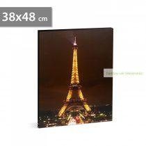 """LED-es fali hangulatkép - """"Eiffel torony"""", 38 x 48 cm"""