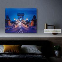 """LED-es fali hangulatkép - """"Lánchíd"""", 38 x 48 cm"""